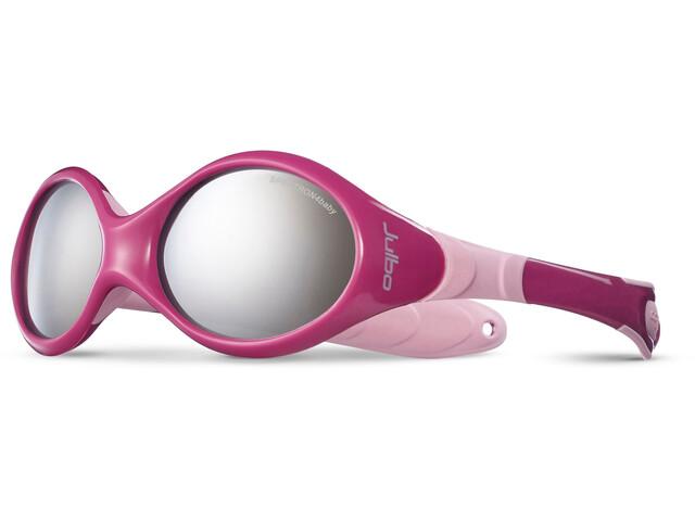 Julbo Looping III Spectron 4 Sunglasses Baby 2-4Y Crimson/Pink-Gray Flash Silver